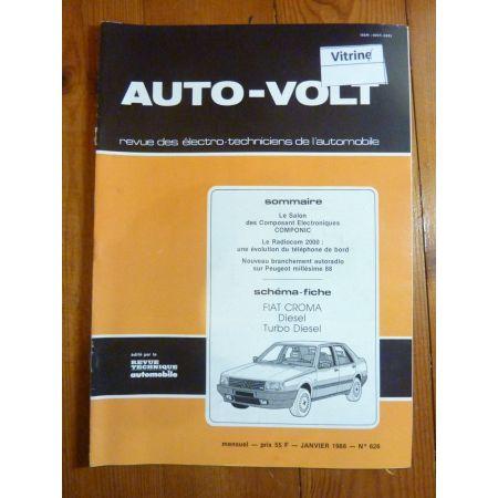 Croma D TD Revue Technique Electronic Auto Volt Fiat