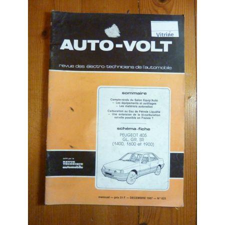 405 Revue Technique Electronic Auto Volt Peugeot
