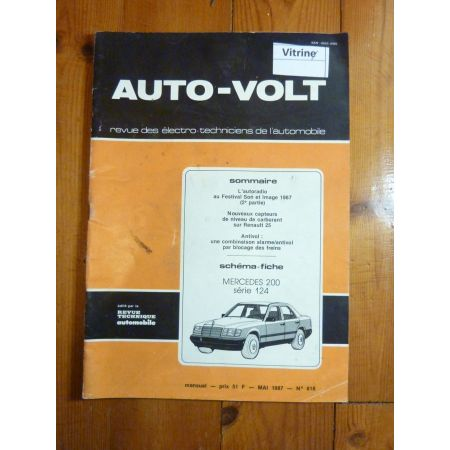 200 type 124  Revue Technique Electronic Auto Volt  Mercedes