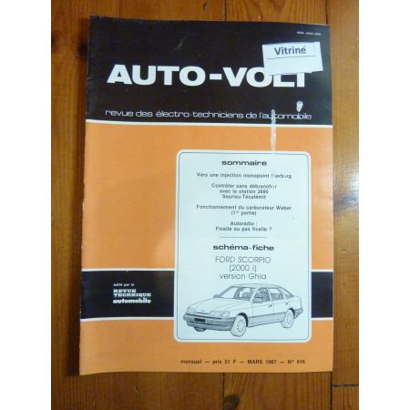 Scorpio 2.0i ghia Revue Technique Electronic Auto Volt Ford