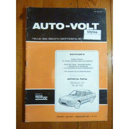 R21 RX TXE Revue Technique Electronic Auto Volt Renault