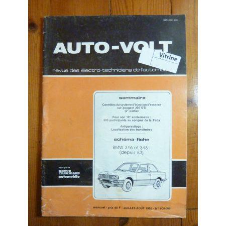 316-318i 83- Revue Technique Electronic Auto Volt Bmw