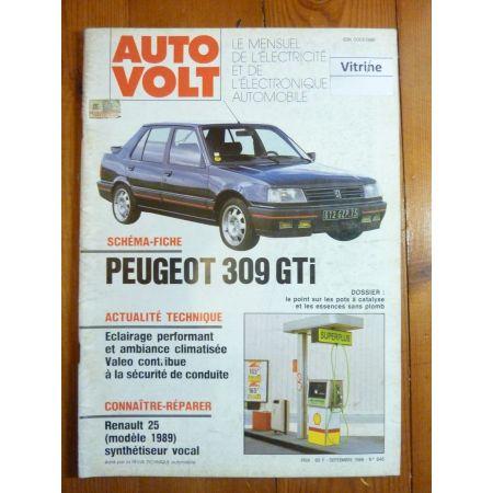 309 GTI Revue Technique Electronic Auto Volt Peugeot