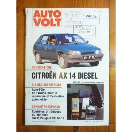 AX 1.4D Revue Technique Electronic Auto Volt Citroen