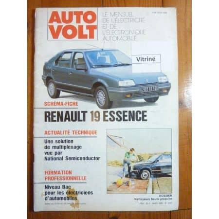 R19 Ess Revue Technique Electronic Auto Volt Renault
