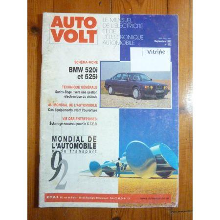 520i - 525i Revue Technique Electronic Auto Volt Bmw