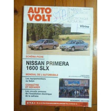 Primera 1.6 SLX Revue Technique Electronic Auto Volt Nissan