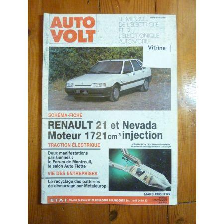 R21 1721 inj Revue Technique Electronic Auto Volt Renault
