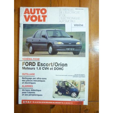 Escort Orion Revue Technique Electronic Auto Volt Ford