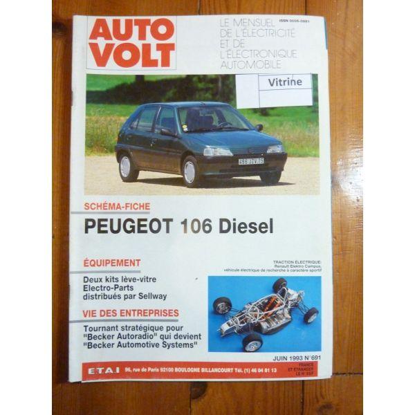 106 Die Revue Technique Electronic Auto Volt Peugeot