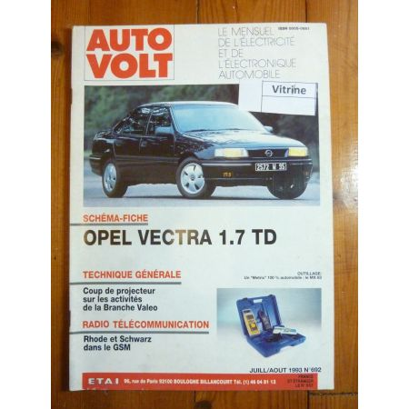Vectra 1.7 TD Revue Technique Electronic Auto Volt Opel