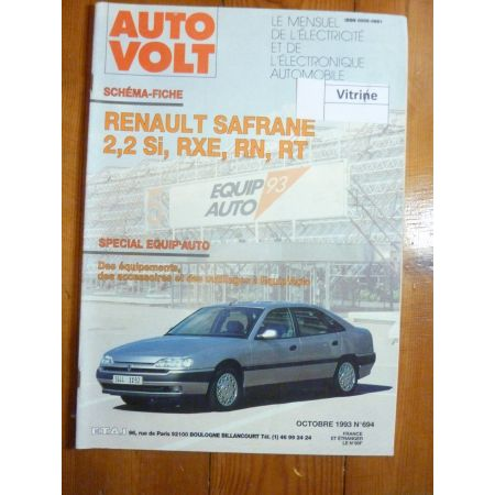 Safrane 2.2 Revue Technique Electronic Auto Volt Renault