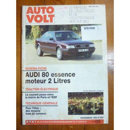 80 2.0l Ess Revue Technique Electronic Auto Volt Audi