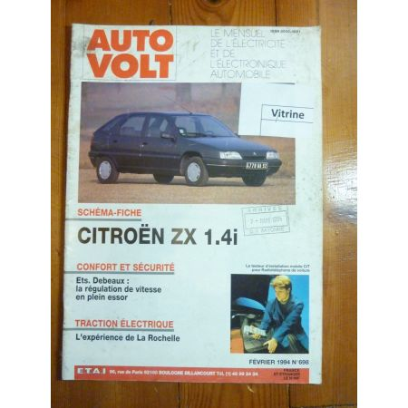 ZX 1.4i Revue Technique Electronic Auto Volt Citroen
