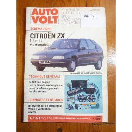 ZX 1.1 1.4 Revue Technique Electronic Auto Volt Citroen