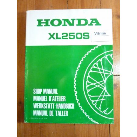 XLS250 Manuel HONDA