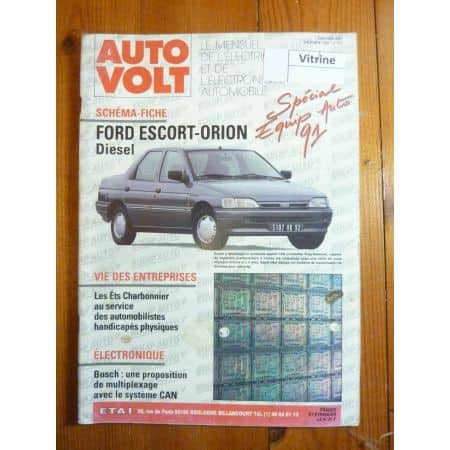 Escort Orion Diesel Revue Technique Electronic Auto Volt Ford