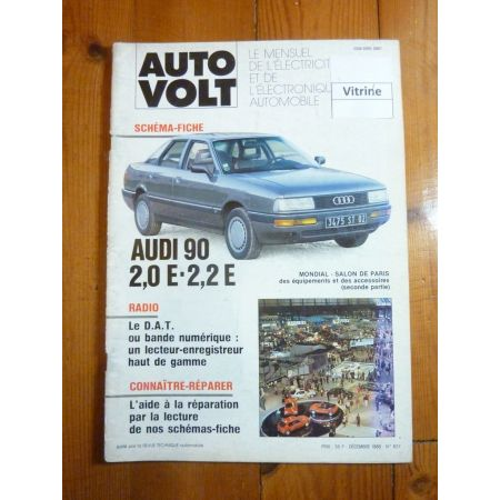 90 2.0E 2.2E Revue Technique Electronic Auto Volt Audi