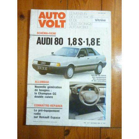 80 1.8 S-E Revue Technique Electronic Auto Volt Audi