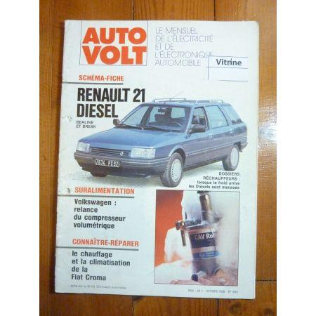 R21 Die Revue Technique Electronic Auto Volt Renault