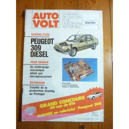 309 Die Revue Technique Electronic Auto Volt Peugeot