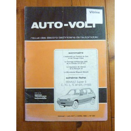 Super 5 1.1 Revue Technique Electronic Auto Volt Renault