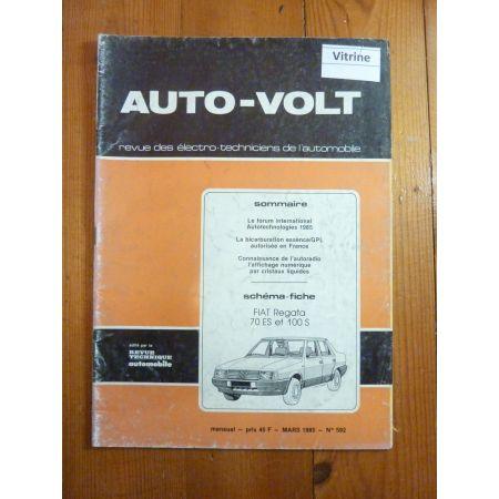 Regata 70ES 100S Revue Technique Electronic Auto Volt Fiat
