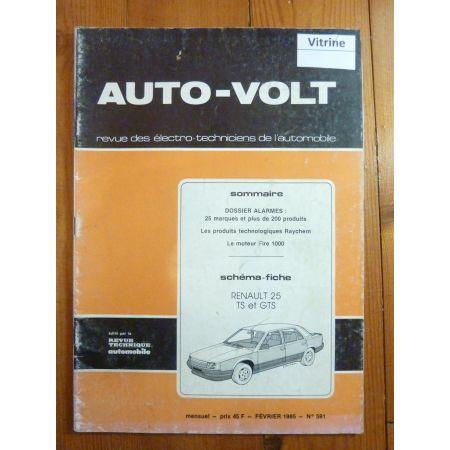 R25 TS GTS Revue Technique Electronic Auto Volt Renault
