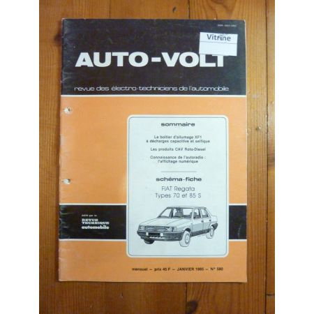 Regata 70-85 Revue Technique Electronic Auto Volt Fiat
