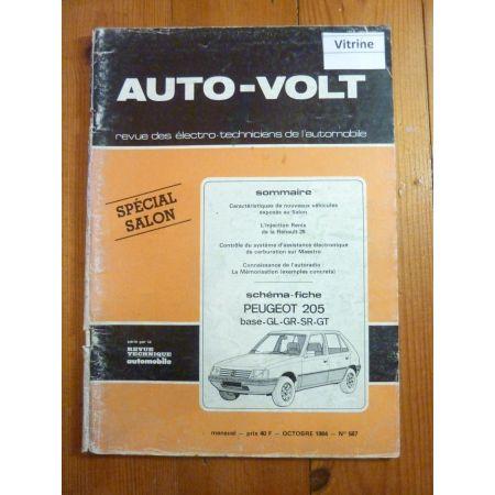 205 Revue Technique Electronic Auto Volt Peugeot