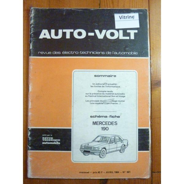 190 Revue Technique Electronic Auto Volt Mercedes