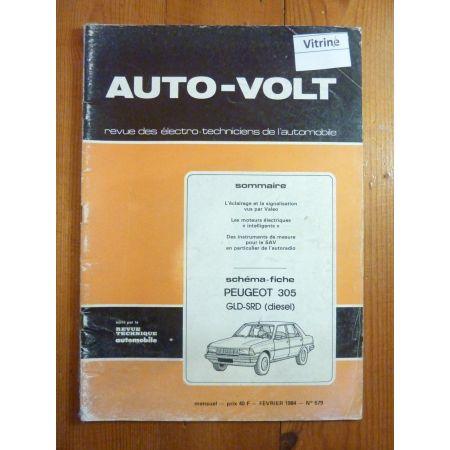 305 GLD SRD Revue Technique Electronic Auto Volt Peugeot