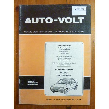 Horizon Die Revue Technique Electronic Auto Volt Talbot Simca