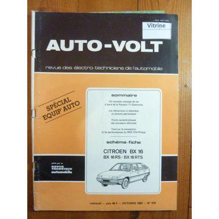 BX 16 Revue Technique Electronic Auto Volt Citroen