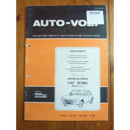 Ritmo L CL Revue Technique Electronic Auto Volt Fiat