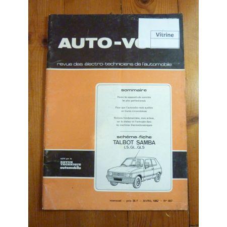 Samba Revue Technique Electronic Auto Volt Talbot Simca