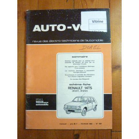 R14 TS Revue Technique Electronic Auto Volt Renault