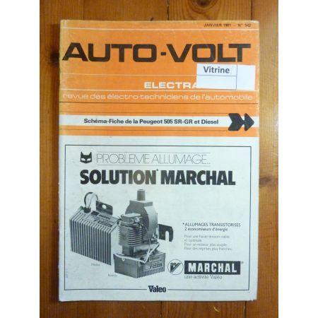 505 SR GR Diesel Revue Technique Electronic Auto Volt Peugeot