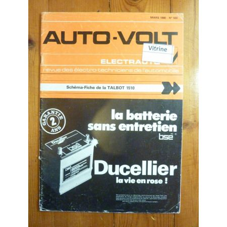 1510 Revue Technique Electronic Auto Volt Talbot Simca