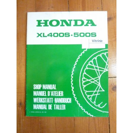 XLS 400-500 Manuel HONDA