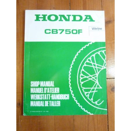 CB 750 F Manuel HONDA