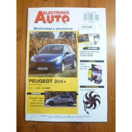 206+ Revue Technique Electronic Auto Volt Peugeot ESPAGNOL