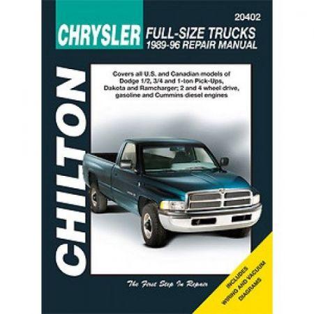 Pick-up 89-96 Revue technique Chilton DODGE Anglais