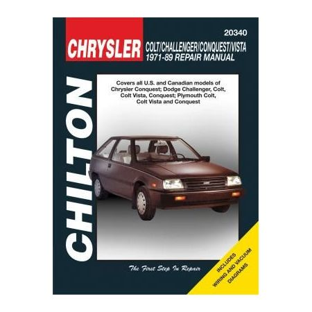 Colt, Challenger, Conquest 71-89 Revue technique Chilton DODGE Anglais