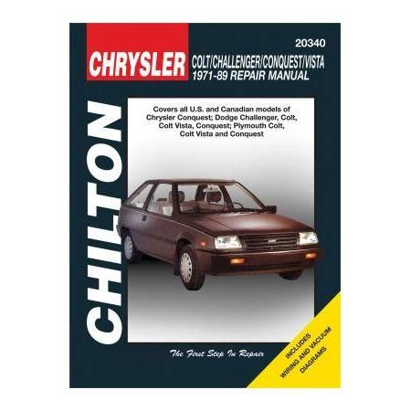 Colt, Challenger, Conquest 71-89  Revue technique Chilton DODGE Anglais