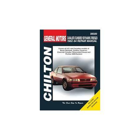 Cavalier, Skyhawk, Sunbird 82-94 Revue technique Chilton GM Anglais