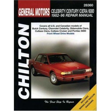 Celebrity, Century, Ciera  82-96 Revue technique Chilton GM Anglais
