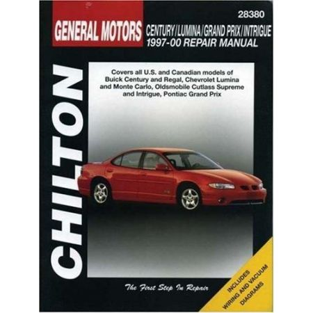 Century, Lumina, Grand Prix & Intrigue 97-00 Revue technique Chilton GM Anglais