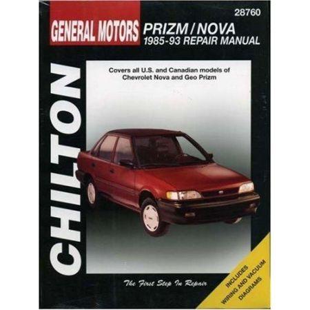 Nova & Prizm 85-93 Revue technique Chilton CHEVROLET Anglais