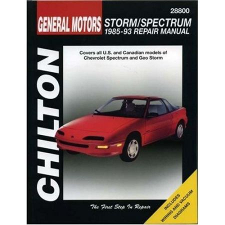 Storm & Spectrum 85-93 Revue technique Chilton GEO Anglais